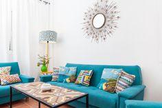 sofá turquesa
