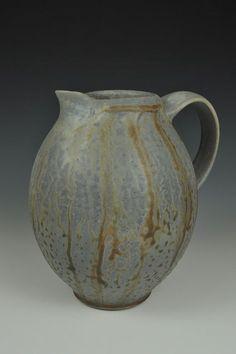 Justin Lambert | Anagama wood-fired, stoneware pitcher.