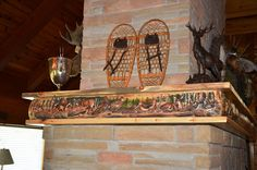 Cabin decor, Hand Carved Fireplace Mantels