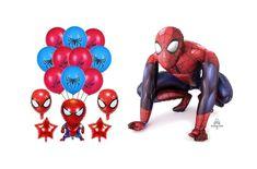 Spiderman Luftballons #luftballonshop #luftballonscomic #luftballons #spiderman #spidermanluftballons