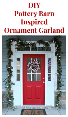 How to make a DIY Pottery Barn Ornament Garland- this is my favorite Christmas decor tutorial Great idea!