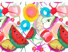 The Bartl Studio. Mixed fruits print. Watercolors.