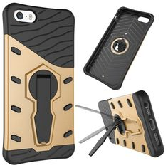 For iPhone 5 5s Case Armor Shockproof Hybrid Hard PC+Soft Silicone Phone Case Cover For iPhone SE Cover with Stand Holder Cases