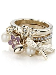 Stacking Rings - Garden Charm Stacking Rings monsoon - gallery