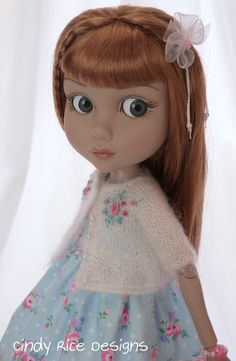 """""""Blue Skies and Pink Roses"""", a handmade ensemble for Wilde Imagination's Patience dolls. c…"""