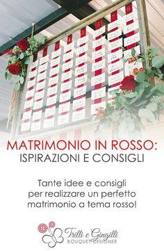 Tante ispirazioni e idee per un perfetto matrimonio in rosso! http://www.trilliegingilli.com/matrimonio-rosso-ispirazioni/ Original ideas for your red wedding.