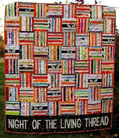 The Q and the U by Riel Nason: Bloggers' Quilt Festival: Night of the Living Thread