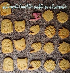 Fairy Tail BUNDLE 5 cutters Cookie Cutter Made by StarCookies