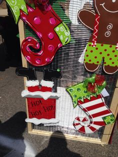 Candy+Cane+Door+Hanger+Wooden+Wreath+Wood+Cut+by+YoungLoveDecor,+$ ...