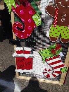 Last Name Christmas Ornament Door Hanger by DesignsAshleyNichole ...