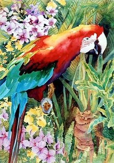 jungle watercolor | Gallery of Watercolor Paintings by Artist Sandra Bray