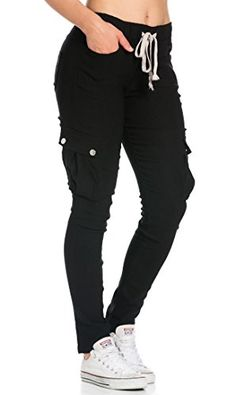 Black Belted Cargo Thigh Strap Buckle Detail Pants Skinny Jeans Girl ... 882bfaebd1bb7