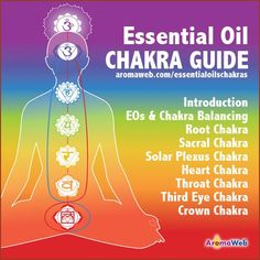 Learn about each of the chakras and about the essential oils associated with each chakra. Recipes and tips included.