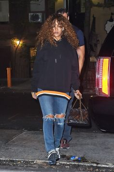 Rihanna at a Recording studio in New York