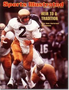 buy Tom Clements of The Fighting Irish Sports Illustrated cover reprints Nd Football, College Football Players, Notre Dame Football, Tennessee Football, Sports Magazine Covers, Notre Dame Apparel, Sports Ilustrated, Notre Dame Irish, American Football