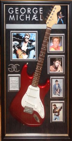 """George Michael, 1963 - 2016, English singer, songwriter and record producer, first with the band """"""""Wham!"""" and continuing with his own tremendously successful solo career. Here is a signed candy apple"""