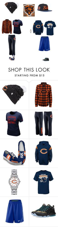 """Chicago Bears"" by jenabbyreid on Polyvore featuring '47 Brand, Levi's, NIKE, The Bradford Exchange, Game Time and JUST DON"