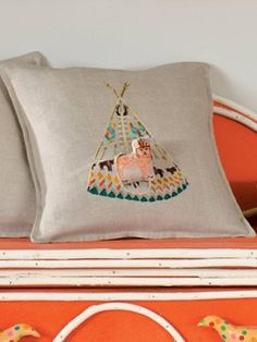 Pretty sure if I had this pillow of a fox in a tipi my life would be complete