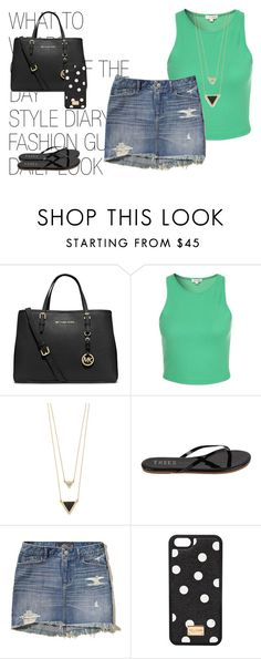 """Sem título #142"" by hellenfmartins ❤ liked on Polyvore featuring MICHAEL Michael Kors, House of Harlow 1960, Tkees, Hollister Co. and Dolce&Gabbana"