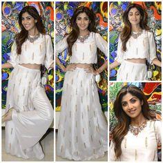 Yay or Nay : Shilpa Shetty Kundra In Payal Singhal Lehnga Dress, Lehenga, Anarkali, Kurta Designs, Saree Blouse Designs, Indian Dresses, Indian Outfits, Stylish Dresses, Fashion Dresses