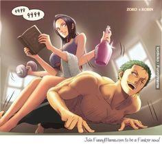 Zoro's training Zoro and Robin One Piece
