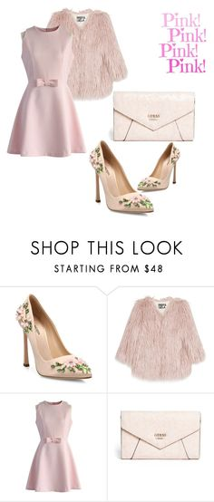 """""""Pink!Pink!Pink!"""" by dianacrystal on Polyvore featuring Giambattista Valli, Pam & Gela, Chicwish and GUESS"""