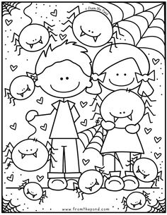 Find this adorable spider coloring page for your little ones to color and decorate over in our Coloring Club - perfect for fall, autumn or Halloween in the classroom or homeschool. Monster Coloring Pages, Preschool Coloring Pages, Printable Coloring Pages, Coloring Pages For Kids, Free Coloring Sheets, Colouring Pages, Coloring Books, Spider Coloring Page, Halloween Coloring Pages