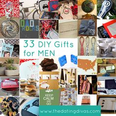 Need a unique gift for a man in your life? We've rounded up 33 unique DIY gift ideas! www.TheDatingDivas.com #diygifts