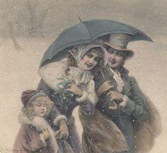 Vintage Vienne Pale Pastel Christmas