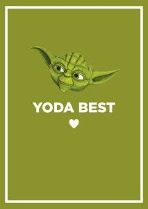Yoda Best   Valentines Day Card I Made For My Husband