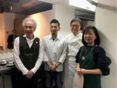 Friends and partners for a Bulgarian wines and French dinner event on Oct. 31, 2018. From left: President Tai, a wine importer, Chef Gokita, a Michelin chef, Yaz, and Kumi Kasuya, a Director of the Japan Gastronomy Association.