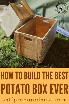 Veg Garden, Vegetable Garden Design, Garden Landscape Design, Garden Boxes, Outdoor Projects, Wood Projects, Potato Box, Diy Play Doh, Potato Storage