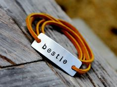Custom Personalized Leather Wrap Bracelet | Made on Hatch.co