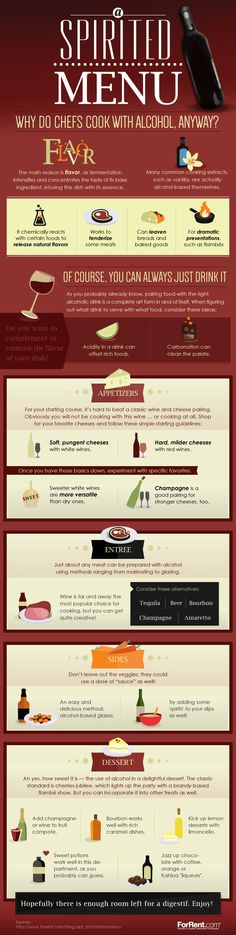 Alcohol Cooking Secrets | Why Chefs Cook Alcohol Tips #infographic #infografía