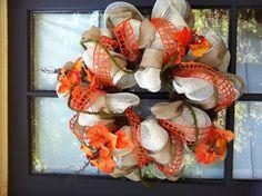 Fall geo mesh wreath!