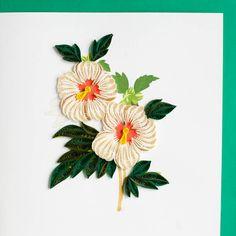 Hibiscus. BL928 6 x 6 par QuillingCard sur Etsy