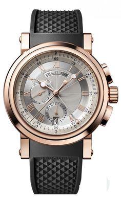 Breguet 5827BR/12/5ZU Marine Chronograph. #Breguet - золотые - швейцарские мужские наручные часы