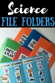 Science File Folder Activities for Special Education File folders are an AWESOME resource to practice and reinforce skills with students with special needs. Science is always a tough one to reinforce, but these work perfectly and require NO writing! Kindergarten Science, Elementary Science, Teaching Science, Science Activities, Science Education, Education City, Science Centers, Kid Science, Science Crafts