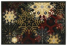 Holiday Collection Snowflakes 3P173 - Shaw Area Rug Georgia Carpet Industries
