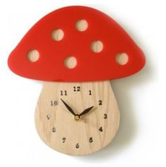 This Mushroom clock would be perfect in a woodland-themed room
