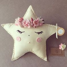 Handmade little crowned star cushions x