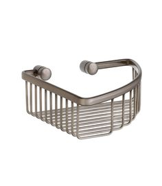 """View the Smedbo L374N 7 3/4"""" Wall Mounted Corner Basket in Brushed Nickel from the Loft Collection at FaucetDirect.com."""