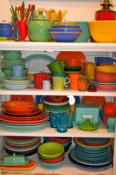 I loved my grandmothers colored dishes. She gave me hers and I cherish them.