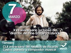 7 de marzo  XVII aniversario luctuoso del director de cine Stanley Kubrick