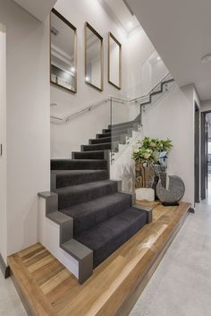 📣 97 Most Popular Modern House Stairs Design Models 12 Home Stairs Design, Interior Stairs, Modern House Design, Home Interior Design, Stair Decor, Stairs Architecture, Modern Stairs, House Stairs, Entryway Stairs