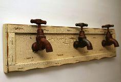 Water tap coat hooks