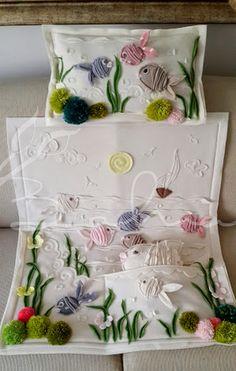 Polar bebek battaniyem yastığı oyuncak balığı ile hemde :))  Baharca tasarım  handmade