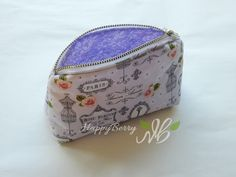 Happy Berry Crochet: How To Sew a Small Zipped Purse