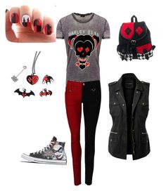 """""""Harley Quinn Set"""" by squidmum on Polyvore featuring LE3NO"""