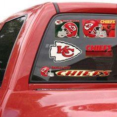 Kansas City Chiefs 11 inchx17 inch Ultra Decal Sheet